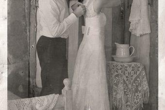 Poślubna sesja retro